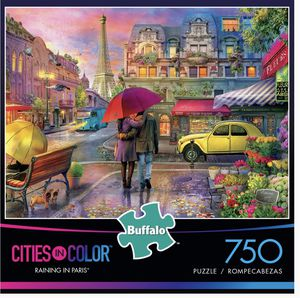 Buffalo Games - Cities in Color - Raining in Paris - 750 Piece Jigsaw Puzzle for Sale in Las Vegas, NV