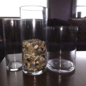 3 Vase Set + River Rocks for Sale in Berwyn, IL