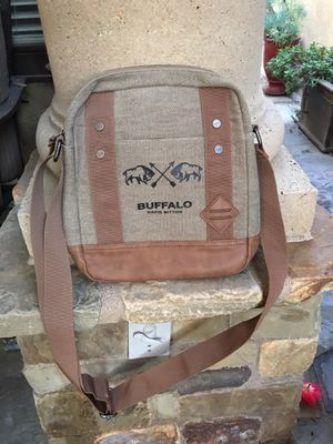Buffalo by David Bitton crossbody messenger bag with leather accents for Sale in Huntington Beach, CA