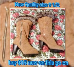 New quality ladies Suede & Leather 9 and 1/2 size boot for Sale in US