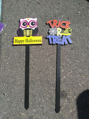 New Halloween Yard Stake Both for $2 for Sale in El Cajon, CA