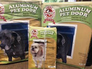 3 NEW Deluxe Aluminum Frame Dog, Animal, Pet Doors for Sale in Rock Hill, SC