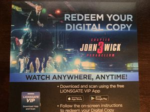 John Wick 3 Digital Download Code for Sale in Euless, TX