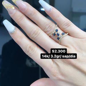 Earring 14k/ 3.2g Sap Diamond for Sale in Hialeah, FL