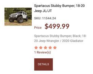 Brand new Bumper for Jeep winch not included for Sale in Lighthouse Point, FL