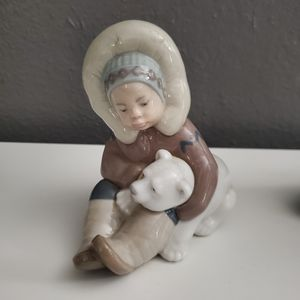 Precious Lladro collectible, 'Eskimo' playing with baby Polar Bear. for Sale in Oceanside, CA