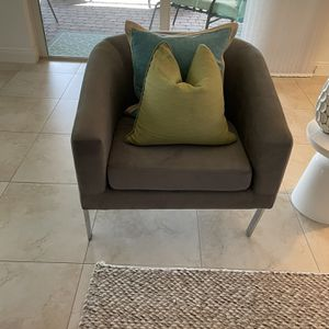Contemporary Gray Chair (Brand New) for Sale in Port St. Lucie, FL