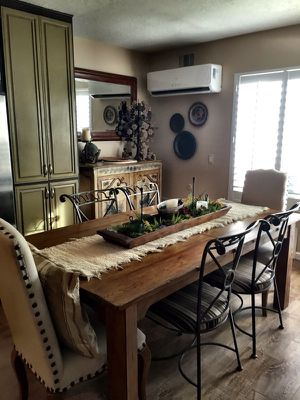 Pottery Barn - Beautiful Farm table from solid wood dining table. Expands larger with leafs. Table only! Excellent condition for Sale in Carlsbad, CA