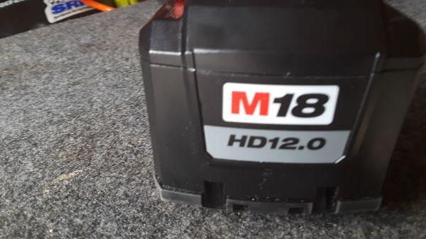 Milwaukee batt m18. 12.0 new