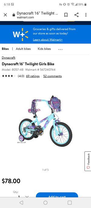 "Dynacraft 16"" Twilight Girls Bike for Sale in Arlington, TX"