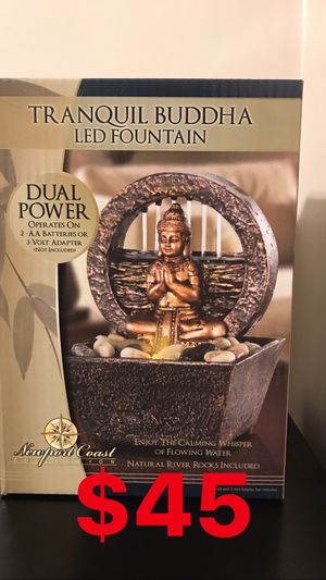 SMALL TRANQUIL BUDDHA FOUNTAIN ⛲️ with LED LIGHTS 💧 for Sale in Los Angeles, CA