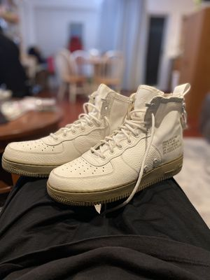 Nike SF Air Force 1 Mid Ivory Olive (Size 9) for Sale in Riverside, CA