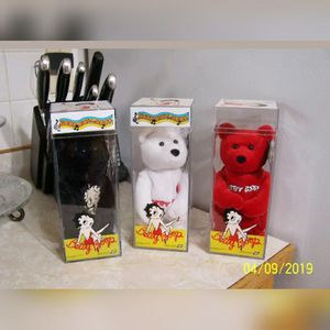Collectible never open Ty Beanie Baby Betty Boop plush toys full set for Sale in Hawthorne, CA