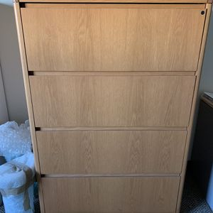 4 Drawer Lateral Wood Filing Cabinet 35W 52.5H 19.5D for Sale in Irvine, CA