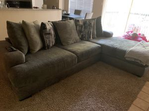 Smoke grey sectional couch, make me your best offer for Sale in Grand Prairie, TX