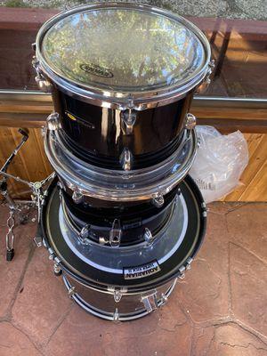 Drum set Black Evans + Aquarian Super kick II head for Sale in Castro Valley, CA