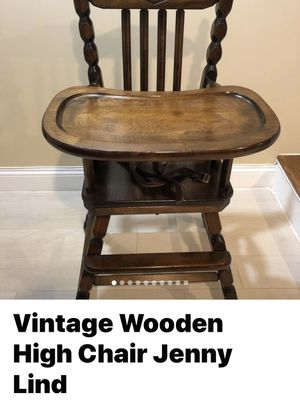 Vintage Wooden High Chair for Sale in Philadelphia, PA