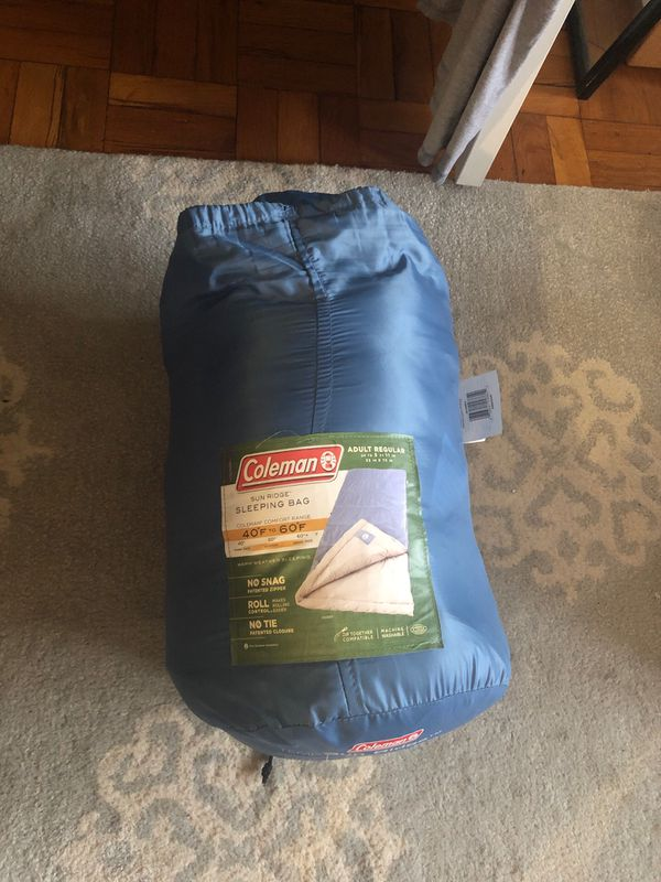 Coleman light sleeping bag 40-60F