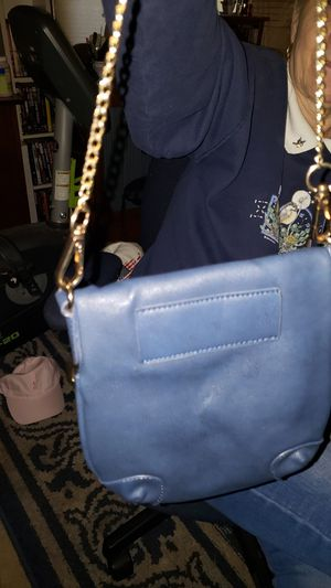 Leather clutch purse with fold over zipper top for Sale in Vancouver, WA