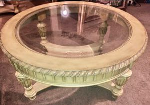 Beautiful Carved Solid Wood Coffee Table $100 for Sale in Fresno, CA