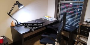IKEA MALAM Desk with pull-out Panel for Sale in Sandy Springs, GA