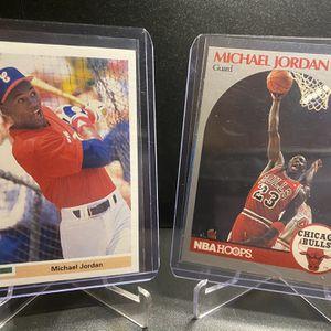 Michael Jordan Rookie Baseball Upper Deck And Hoops for Sale in San Antonio, TX