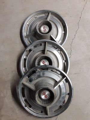 Chevrolet SS Wheel Covers (3) 1964 Model or so #HubCaps for Sale in Lumberton, TX