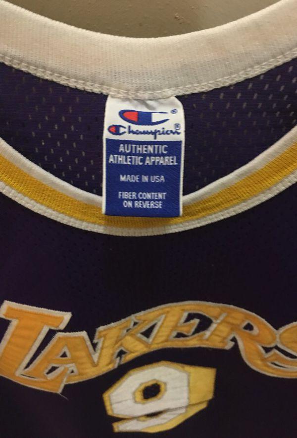 Nick Van Exel authentic Lakers jersey