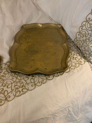 Two gold trays purchased Florence Italy for Sale in Greensboro, NC