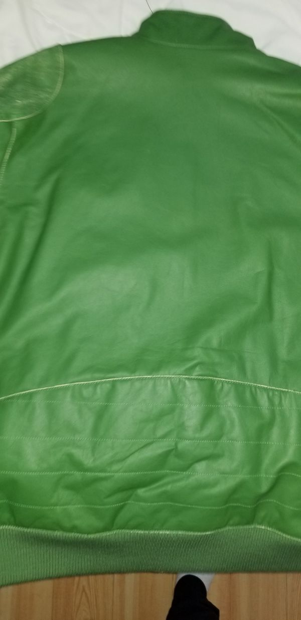 5075c0f0a Green Leather puma motorcycle jacket for Sale in Boston, MA - OfferUp