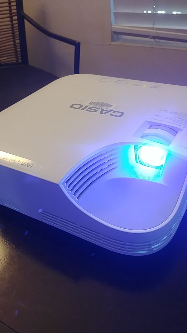 Casio XJ V1 LED Laser HDMI TV Projector 20,000 Hours!!! Use with xbox one x ps4 cable box and chromecast