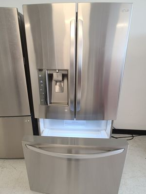 Lg stainless steel French door refrigerator used good condition with 90day's warranty for Sale in Hyattsville, MD
