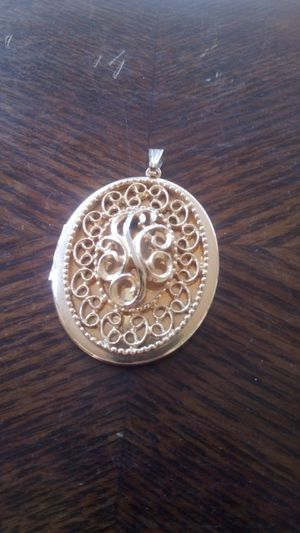 Large gold colored locket/ pendant for Sale in Tempe, AZ