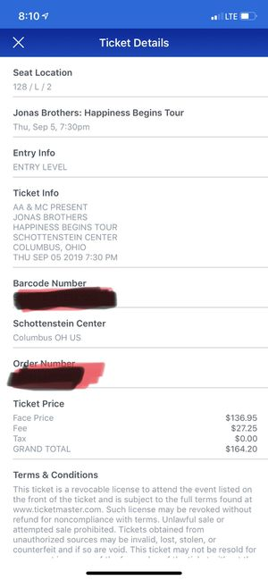 Jonas Brother Tickets for Sale in Millersport, OH