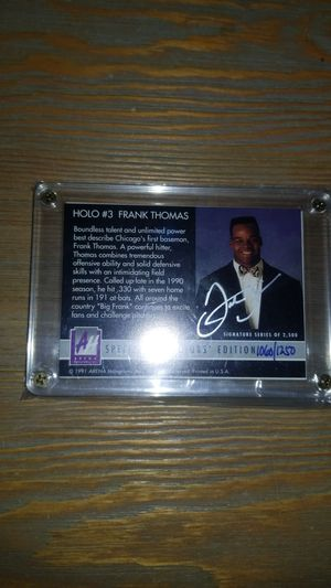 Baseball card- frank thomas hologram autograph 1060/1250 for Sale in Salem, OR
