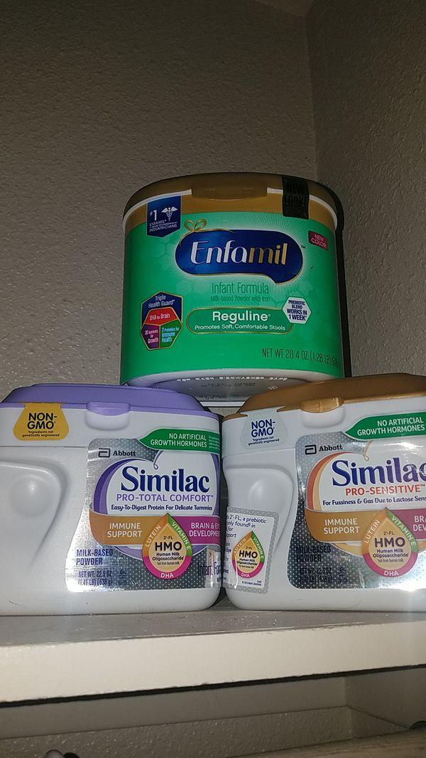 Baby formula similac & enfamil Reguline