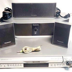 Panasonic 5 Disc Changer Bundle Wireless Surround Sound 3 Speakers SA-HT640 for Sale in Avondale, AZ