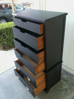 REAL WOOD 6 drawers dresser/organizer in good shape for Sale in Long Beach, CA