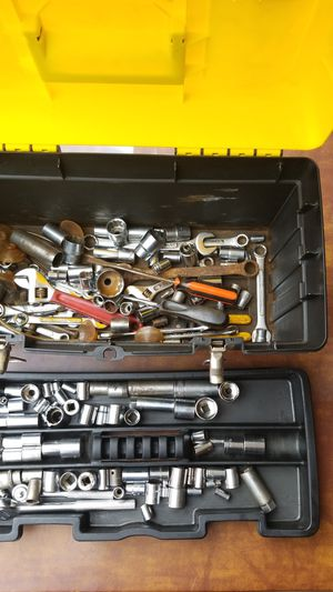Tool Box wth tools sockets wrenchs and ratchets for Sale in Clearwater, FL