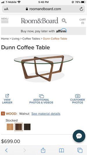 Room & Board MCM glass coffee table for Sale in Bellevue, WA