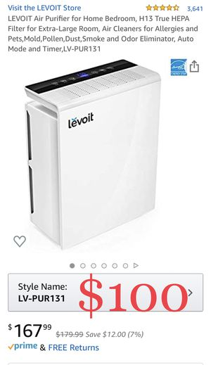 LEVOIT Air Purifier for Home Bedroom, H13 True HEPA Filter for Extra-Large Room, Air Cleaners for Allergies and Pets,Mold,Pollen,Dust,Smoke and Odor for Sale in Ontario, CA