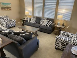 2 Couches and 1 Chairs - Willing to Split for Sale in Goodyear, AZ