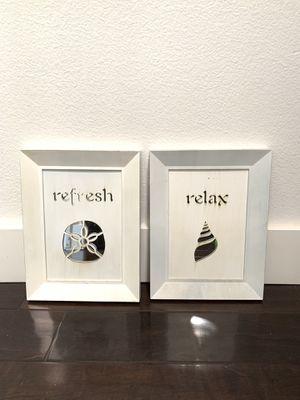 2 zen beach theme art frames for Sale in Pico Rivera, CA