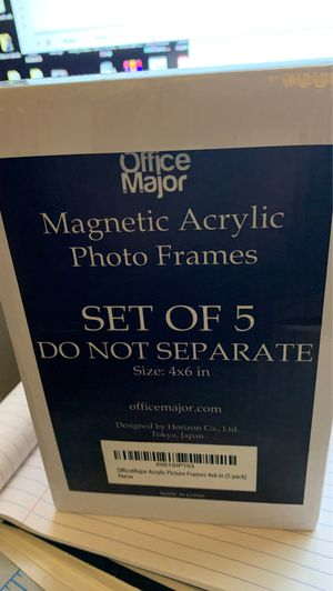 Set of 5 MAGNETIC ACRYLIC PHOTO PICTURE FRAMES for Sale in Eastvale, CA