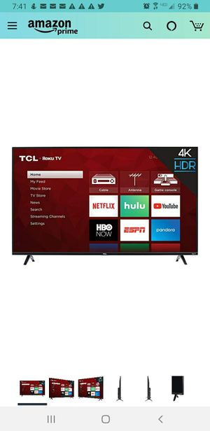 TCL 43 Inch 4K Ultra HD Smart Roku LED TV for Sale in Bloomington, IL