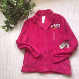 NWT Disney store Mickey & Minnie hot pink fleece size Large for Sale in Clermont, FL
