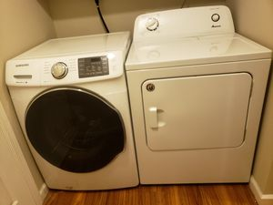 Samsung washer & Amana dryer for Sale in Fort Wayne, IN