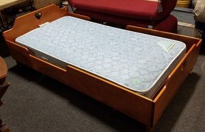 Solid Wood Low Profile Twin Sized Bed - Delivery Available for Sale in Tacoma, WA