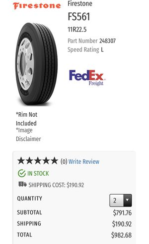Firestone steer tires for Sale in Dallas, TX