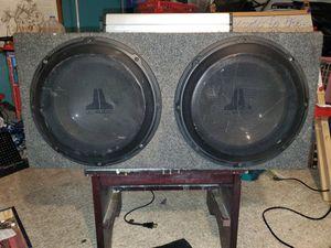 "Two 12"" JL W1 in a sealed box w/ JL 1000.2 amp for Sale in Portland, OR"